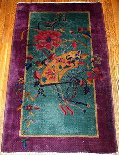 Hand made art deco Chinese rug 2.5' x 4.7' 1920   eBay