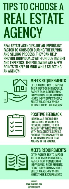 A real estate agency can provide individuals with unique insight and expertise, while buying and selling properties. While selecting an agency, individuals should make sure they have good area knowledge, positive feedback & fulfils clients' needs.