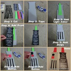 Star Wars Light Saber Invites (Step by Step)