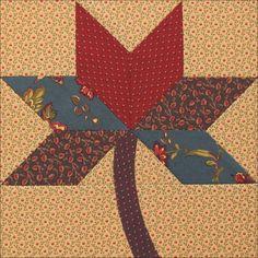 Civil War Quilts: Westering Women Block 3: Sweet Gum Leaf