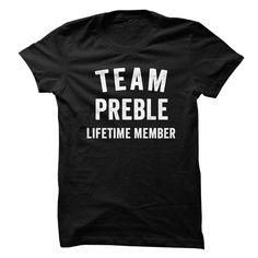 PREBLE TEAM LIFETIME MEMBER FAMILY NAME LASTNAME T-SHIRT