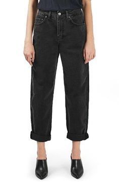 Free shipping and returns on Topshop Boutique Boyfriend Jeans at Nordstrom.com. These washed-black jeans take their