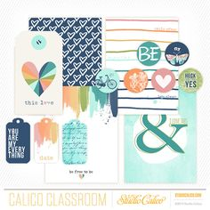 Free printable journaling cards & accents from Shanna Noel @Studio_Calico - Mixed Media class