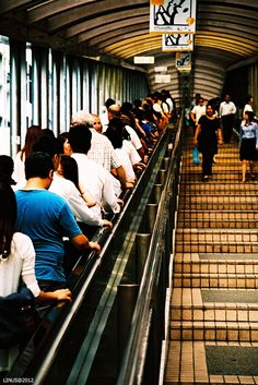 Hong Kong - this is the longest escalator ever and i travelled halfway on it and then realised I would have to walk back on the stairs! I got off in a hurry lol