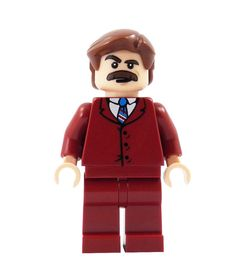 70's News Anchor - miniBIGS Custom Figure made from Genuine LEGO Minifigure Elements