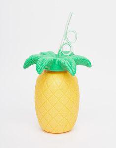 Image 1 - Sunnylife - Tasse ananas avec paille