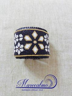 Black cuff peyote bracelet pattern peyote cuff christmas
