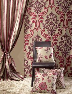 bande rideaux belle élégante de motif floral
