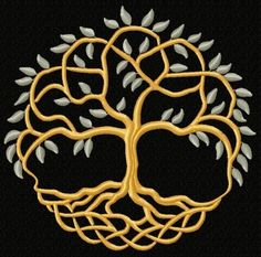 Machine Embroidery Designs Advanced Embroidery Designs - Celtic Tree of Life II Viking Embroidery, Advanced Embroidery, Embroidery For Beginners, Embroidery Thread, Celtic Quilt, Celtic Patterns, Celtic Designs, Celtic Tree Of Life, Celtic Art