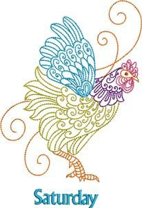 Days of the Week: Rooster | Machine Embroidery Pack