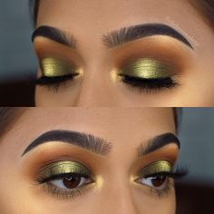 "Link is in my bio for the tutorial of this look using the new Morphe Brushes X Jackie Hill palette ""Armed and Gorgeous"" from the vault … Beautiful Eye Makeup, Love Makeup, Makeup Inspo, Makeup Inspiration, Beauty Makeup, Smokey Eye Makeup, Skin Makeup, Halo Eye Makeup, Golden Eye Makeup"