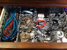 I have a similar organizer for my necklaces and bracelets (other than my bangles, which I store separately because I have so many of them). I picked the one I have up at Marshalls for about five dollars.