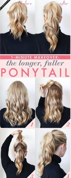 ladies if your hair is to short try this :)
