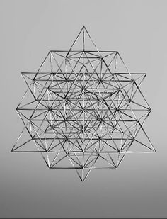 is the fewest number of tetrahedrons you need to form 2 octaves of perfectly balanced geometry. what Buckminster Fuller called the Vector equilibrium. 64 codons in human DNA Geometric Designs, Geometric Shapes, Yi King, Instalation Art, Minimalist Decor, Minimalist Kitchen, Minimalist Interior, Minimalist Living, Minimalist Bedroom