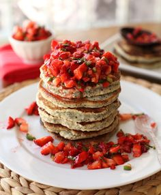 Chia Flapjacks with Strawberry Salsa | 31 Healthy And Delicious Ways To Cook With Chia Seeds