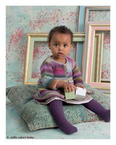 Mäntelchen aus Mille Colori Baby, Modell 3, Fatto A Mano 234 Elle Tricote