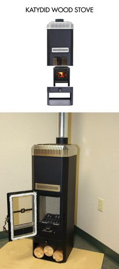 KATYDID WOOD STOVE  The Katydid is another gasifier wood stove manufactured by Unforgettable Fire. Like the Kimberly it is designed to burn at high efficiencies, and can heat up to 2,000sqft.   Photo Credit: Iron Ash