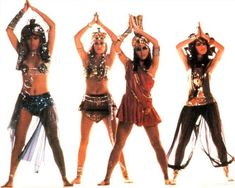 """""""Walk Like an Egyptian"""" * 1986 hit song from the all-female pop group The Bangles."""