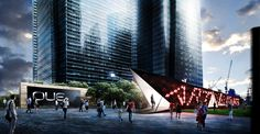 OUE artling pavilion, design by Winstudio, Marco Ferri Architects & IDM Architects  Render courtesy by Kyra Swee
