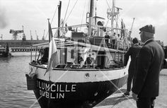 The MV Columcille sets sails for Biafra, carrying food, clothes and medicines. see more photos at: www. Connemara, Set Sail, Photo Archive, More Photos, Dublin, Boats, Sailing, Ireland, Irish