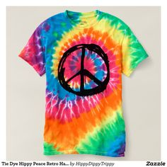 Shop Tie Dye Hippy Peace Retro Hand Colorful Boho T-shirt created by HippyDippyTrippy. Personalize it with photos & text or purchase as is! Diy Clothes And Shoes, Custom Clothes, Cute Alien, Tie Dye Crafts, Tie Dye Shirts, Tie Dye Patterns, Tye Dye, T Shirts For Women, Fun Gifts