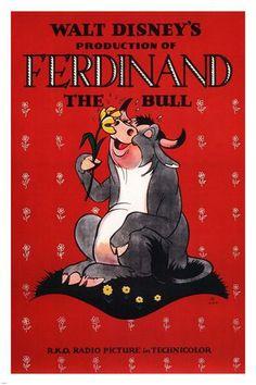 Walt Disney's Ferdinand the bull MOVIE POSTER 1938 24X36 VINTAGE CARTOON
