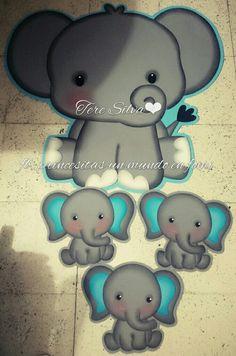 Elefante Personalizada 24 CROMOS Bolsa Fiesta Etiquetas de cono dulce gracias Linda