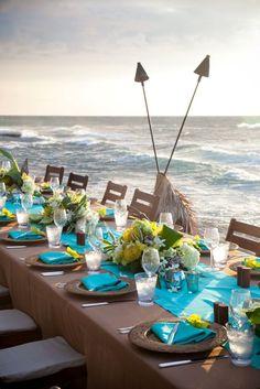 Centros de mesa para boda en la playa, originales y creativos