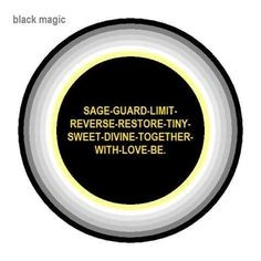 For removing black Magic