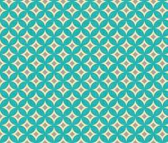 diamond_circles_aqua fabric by holli_zollinger on Spoonflower - custom fabric