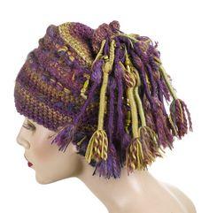 Freeform Crochet hat/beanie - rasta-4 by renatekirkpatrick, via Flickr