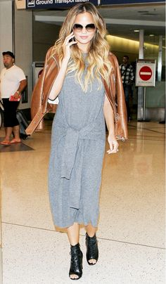 How to Nail Chrissy Teigen's Flawless Airport Style