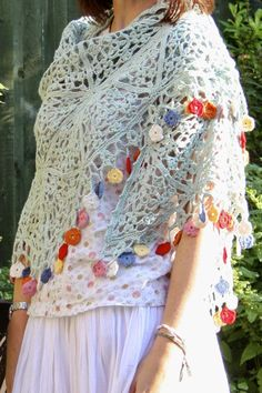 Gypsy Shawl     A beautiful, romantic accompaniment to summer.    Let your hair down, roam wild and free with these flowers dancing with yo...
