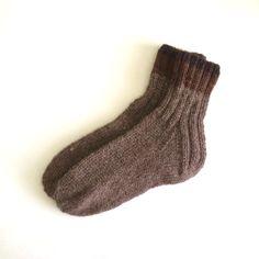 Hand Knit Black-Purple Wool Socks Men/Women, Size 10-11-12-13-14 by PoemsAboutMe on Etsy