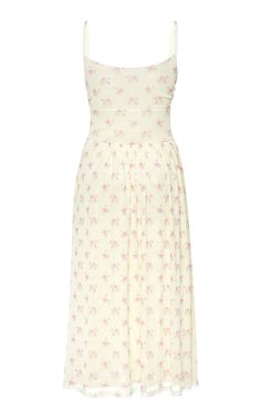 Misty Ruched Floral-Print Stretch-Crepe Midi Dress by Sandy Liang Royal Fashion, Timeless Fashion, Chic Outfits, Fashion Outfits, Womens Fashion, Sandy Liang, Spring Outfits Women, Vogue, Petite Dresses