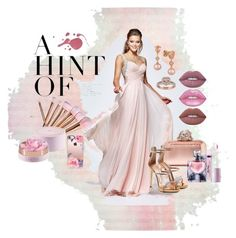 """Rose Gold Beauty"" by newyorkdressonline ❤ liked on Polyvore featuring Tarik Ediz, Jimmy Choo, Lancôme, LE VIAN, Giuseppe Zanotti, Lime Crime, Casetify, gold, Pink and rose"
