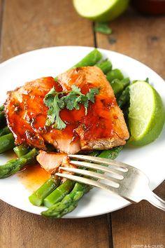 Sriracha Lime Salmon - Creme De La Crumb
