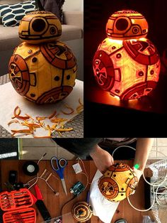 """BB-8-o'-Lantern"" inspired by the new droid, BB-8, that's featured in the upcoming Star Wars movie by Lorraine W., Berkeley, CA"