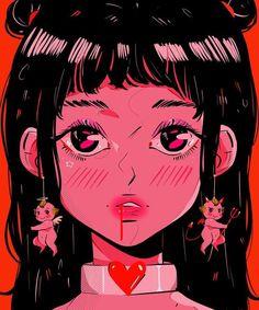 💌👼🏻👹💌 do you listen to your angel or demon more? Cartoon Icons, Cartoon Art, Aesthetic Art, Aesthetic Anime, Monalisa Wallpaper, Arte Dope, Image Deco, Arte Cyberpunk, Cute Art Styles