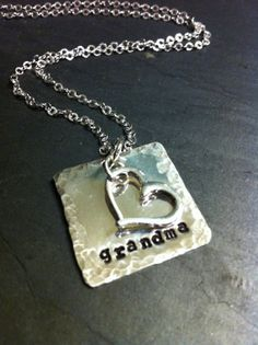 Grandma hand stamped sterling silver jewelry