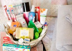Guest room basket!