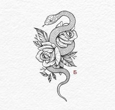 Tattoo snake arm design ideas for 2019 Tattoos And Body Art tattoo ideas Tattoo Design Drawings, Flower Tattoo Designs, Tattoo Designs For Women, Tattoo Sketches, Flower Tattoos, Snake And Flowers Tattoo, Unique Tattoo Designs, Arm Tattoos For Women, Tattoo Ideas Flower