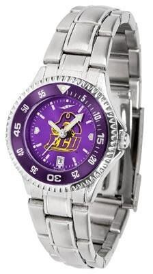 ECU East Carolina Women's Stainless Steel Dress Watch by SunTime. $88.95. Water Resistan. Women. Stainless Steel. Officially Licensed East Carolina Pirates Women's Stainless Steel Dress Watch. Links Make Watch Adjustable. ECU East Carolina Women's stainless steel watch. This Pirates dress watch with rotating bezel color-coordinated to compliment your favorite team logo. The Competitor Steel utilizes an attractive stainless steel band. Perfect for any occasion, wheth...