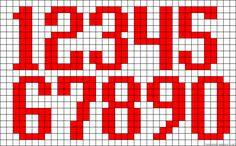 123 x-stitch pattern Perler Bead Designs, Perler Bead Templates, Pearler Bead Patterns, Perler Bead Art, Perler Patterns, Loom Patterns, Beading Patterns, Stitch Patterns, Cross Stitch Numbers