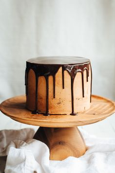Dark Chocolate, Passion Fruit, and Hazelnut Layer Cake | Hint of Vanilla