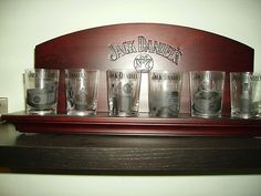 Jack Daniel's Shot Glass Collection with Display Case | eBay