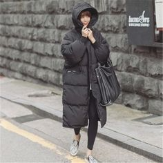 Korean Star Style 2015 Winter New Parkas Jackets Women Overknee Long Hooded With Pockets Thicken Outwear Padded Down Coat LJ2720-in Down & Parkas from Women's Clothing & Accessories on Aliexpress.com | Alibaba Group