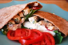 Gourmet Rooster: Healthy 2014! Grilled Chicken Gyros with Tzatziki!