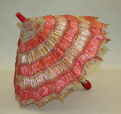 Parasol: ca. 1900, American, straw, wood.