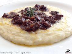 Risotto al parmigiano o cacio con ragù di maialino - Spirito Mediterraneo Modica